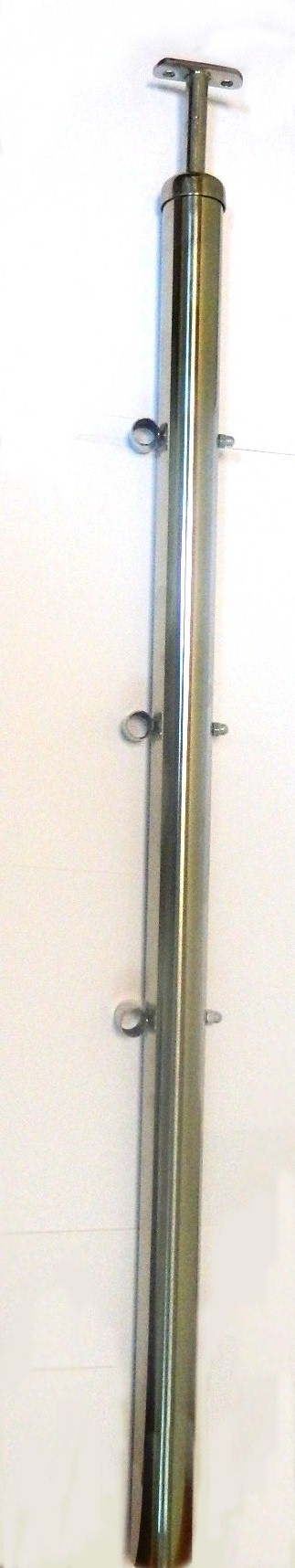 стойка с ригеледержателем, нержавеющие комплектующие для перил