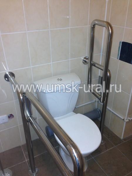 Опорные приспособления для туалетных комнат больниц